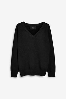 Knitted V-Neck Jumper (3-16yrs)