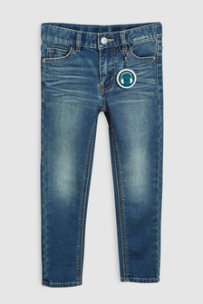 Jersey Denim Five Pocket Jeans (3-16yrs)