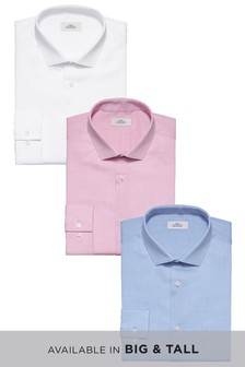 Textured Shirts Three Pack