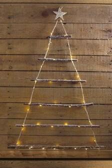 Lit Twig Wall Tree