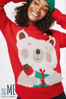 Womens Christmas Polar Bear Jumper