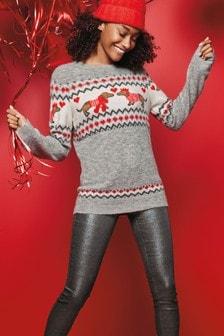 Christmas Dog Fairisle Pattern Sweater