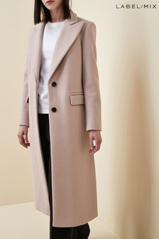 Next/Mix Tailored Single Breasted Coat