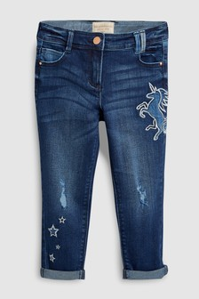 Unicorn Embroidered Jeans (3-16yrs)