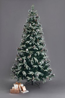 350 LED Collection Luxe Frosted Fir 7ft Christmas Tree