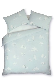 Brushed Cotton Polar Bears Bed Set