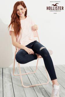 Hollister Dark Wash Ripped Skinny Jeans