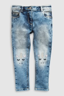 Skinny Jeans With Unicorn Detail (3-16yrs)