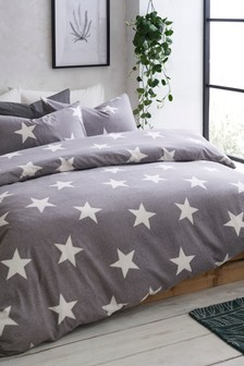 Brushed Cotton Stars Bed Set