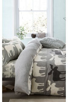 Super Soft Fleece Moose Bed Set