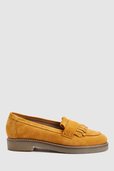 Fringe Loafers With Crepe Sole