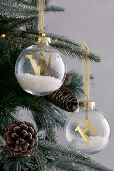 2 Pack Initial Filled Bauble Set