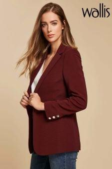 Wallis Berry Ribbed Jacket